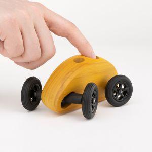 Drewniany Samochodzik FINGER CAR żółty