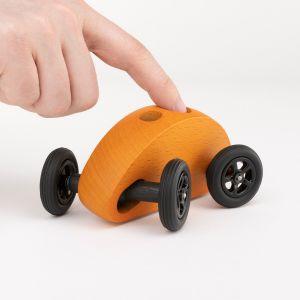 Drewniany Samochodzik FINGER CAR pomarańczowy