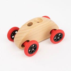 Drewniany Samochodzik FINGER CAR w kolorze naturalnego drewna